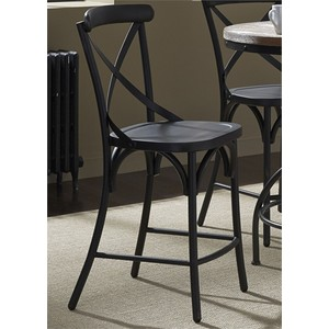 X Back Counter Chair in Black