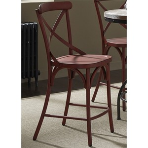 X Back Counter Chair in Red | Liberty Furniture