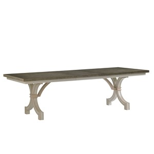 St. Helena Trestle Table in Orchid | Stanley Furniture