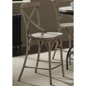 X Back Counter Chair in White | Liberty Furniture
