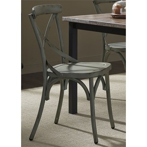 X Back Side Chair in Green | Liberty Furniture