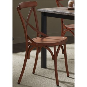X Back Side Chair in Orange | Liberty Furniture