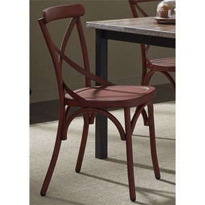 X Back Side Chair in Red | Liberty Furniture