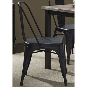 Bow Back Side Chair in Black | Liberty Furniture