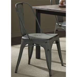 Bow Back Side Chair in Green | Liberty Furniture