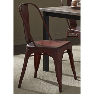 Bow Back Side Chair in Red | Liberty Furniture