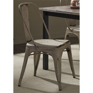 Bow Back Side Chair in White | Liberty Furniture