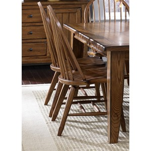 Bow Back Side Chair in Oak | Liberty Furniture