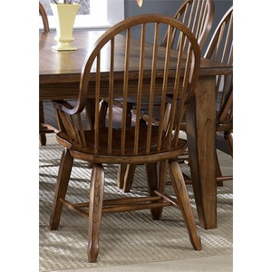 Bow Back Arm Chair in Oak | Liberty Furniture