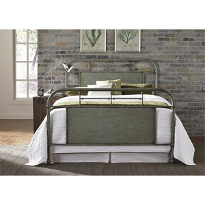 Queen Metal Bed in Green | Liberty Furniture