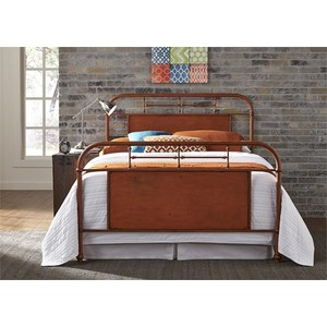Queen Metal Bed in Orange | Liberty Furniture