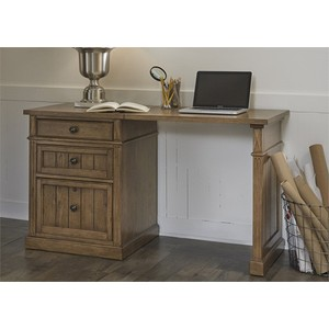Rectangular Desk with File Cabinet