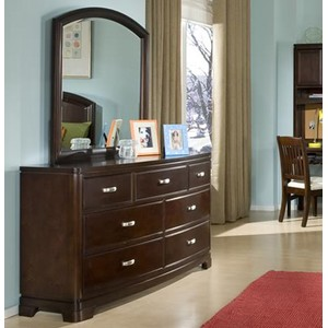 Park City Six Drawer Dresser with Mirror