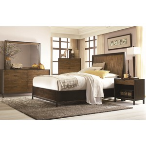 King Curved Panel Storage Bed | Legacy Classic