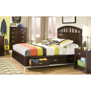 Full Platform Storage Bed