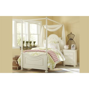 Twin Poster Bed with Canopy