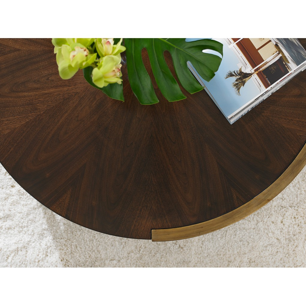 Autry Round Cocktail Table in Porter | Stanley Furniture