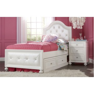 Twin Upholstered Bed | Legacy Classic