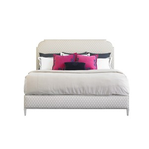 Peninsula Braided Trellis Upholstered Bed