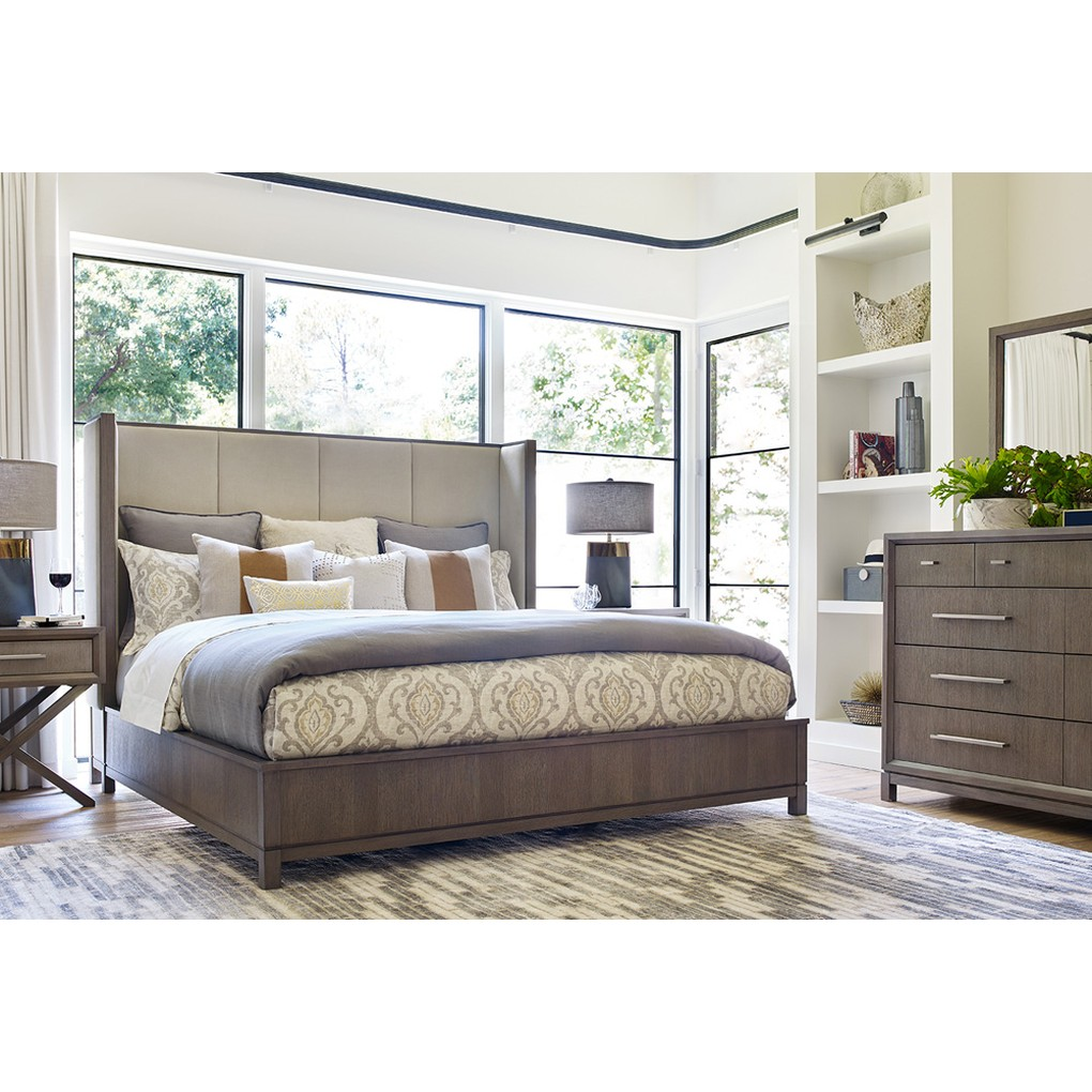 Rachael Ray Queen Upholstered Shelter Bed | Legacy Classic