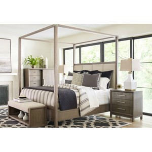 Rachael Ray Queen Upholstered Poster Bed | Legacy Classic