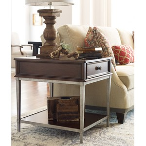 Rachael Ray End Table with Metal Base