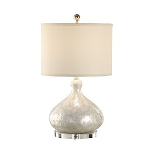 Capiz Shell Bottle Lamp