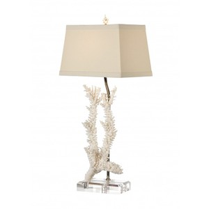 Captiva Lamp in Foam White | Wildwood Lamp