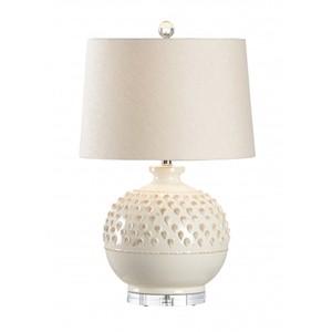 Carlotta Lamp in Aged Cream