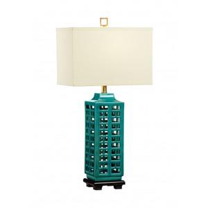 Khai Lamp in Turquoise | Wildwood Lamp