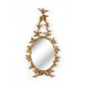 Oakmont Mirror in Gold | Wildwood Lamp