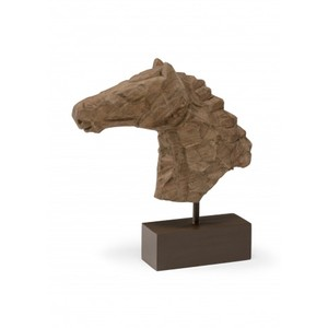 Chiseled Horsehead Sculpture