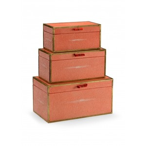 Cousteau Boxes in Coral | Wildwood Lamp