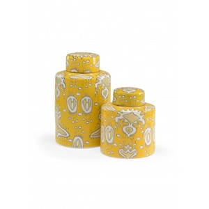 Yellow Cannisters - Set of Two