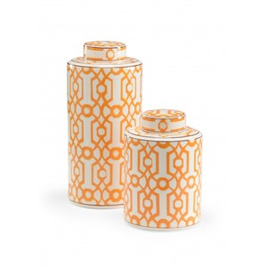 Orange Canisters - Set of Two | Wildwood Lamp