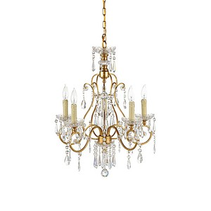 Gold and Crystals Chandelier | Wildwood Lamp