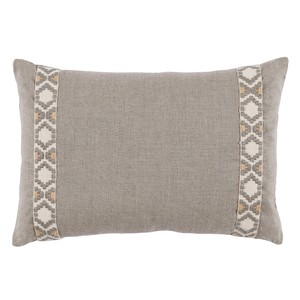 Grey Natural Linen Lumbar Pillow