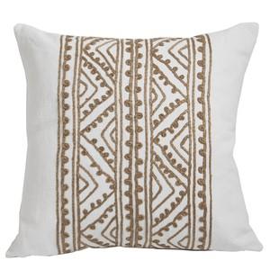 WhiteHemp Embroidered Throw Pillow