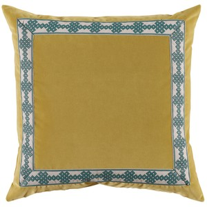 Velvet Throw Pillow Lime