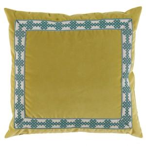 Velvet Throw Pillow Lime
