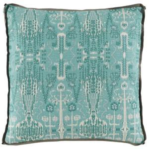 Aqua Ikat Bombay Mist Pillow