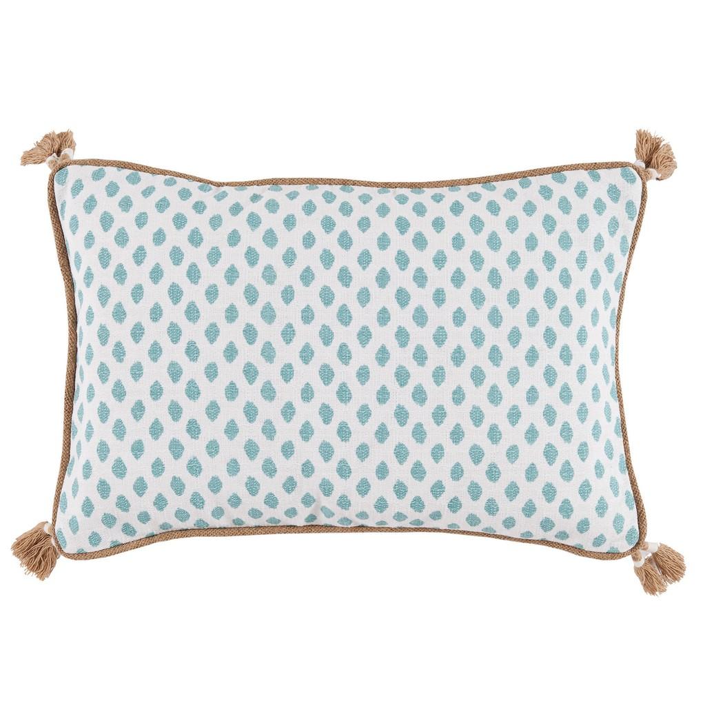 Dot Print Lumbar Tassel Pillow | Lacefield Designs