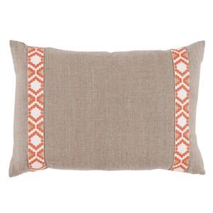 Tan Coral Side Border Lumbar Pillow