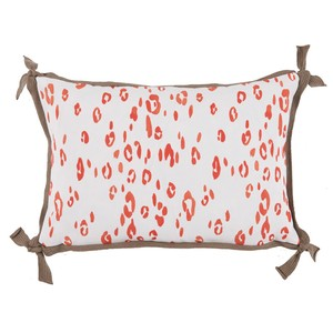 Leopard Melon Orange Outdoor Lumbar Pillow | Lacefield Designs