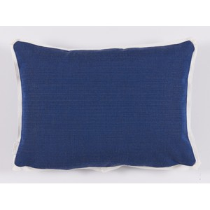 NavyGeometric Print Outdoor Lumbar Pillow   Lacefield Designs