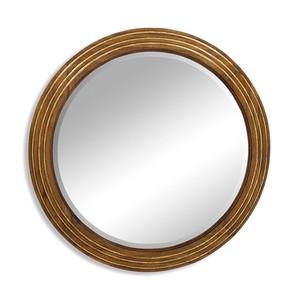 Large Round Eglomise Mirror