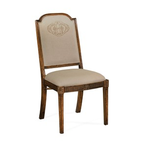 Upholstered Dining Chair with Gold Embroidery | Jonathan Charles