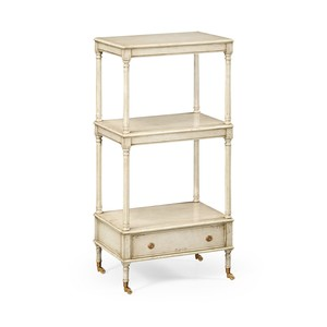Three-Tier Grey Rub-Through Etagere | Jonathan Charles