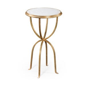 Eglomise and Gilded Iron Lamp Table | Jonathan Charles