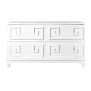 Werstler White Lacquer Four Drawer Dresser | Worlds Away